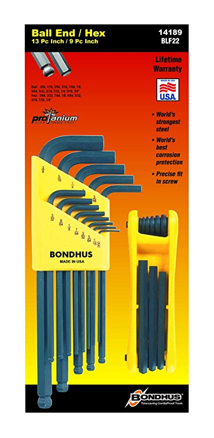 ad8cae0f4ce Image Unavailable. Image not available for. Color: Bondhus 14189 Bonus  Pack, Balldriver L-wrench Set ...