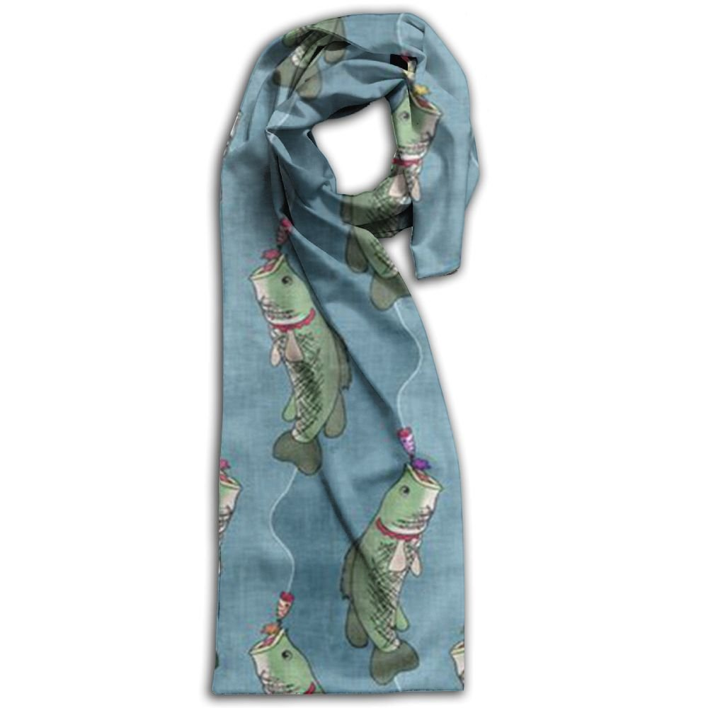 Fishing Lure 100% Polyester Soft Scarves Scarf Wrap Warm Long For Men Gift For Travel