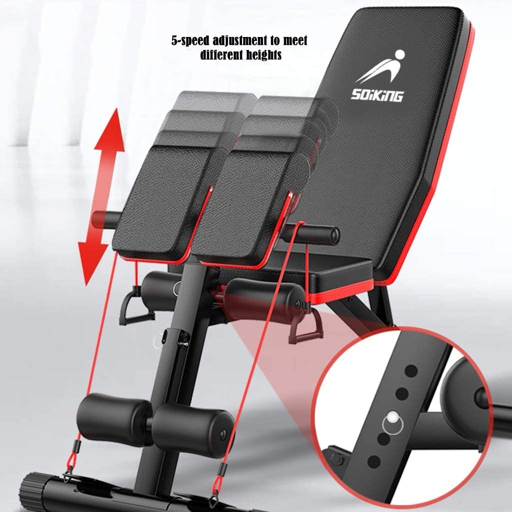 Details about  /Adjustable Sit Up AB Incline Abs Bench Flat Fly Weight Press Gym Fitness Rope US