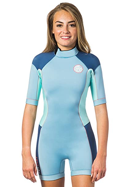 a5971712a1 Image Unavailable. Image not available for. Color  Rip Curl Dawn Patrol 2mm  Back Zip Spring Shorty Wetsuit Blue ICE ...
