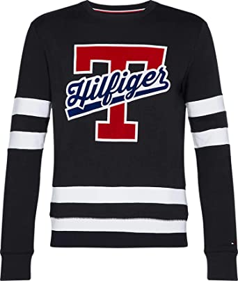 50961db8 Tommy Hilfiger MW0MW09073 T-Script Logo Sweat Sweater Men: Amazon.co.uk:  Clothing