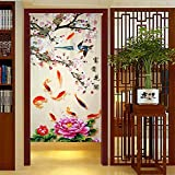 LifEast Chinese Impression Old Countryside Style Door and Window Treatment Curtains (Pink)