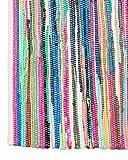 Sandal Stars **CHINDI RUG (120cm x 170cm)** Traditional Hand-Woven Unique Multi-Colored Striped Rug
