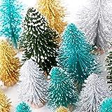 AerWo 24PCS Mini Christmas Trees, Bottle Brush