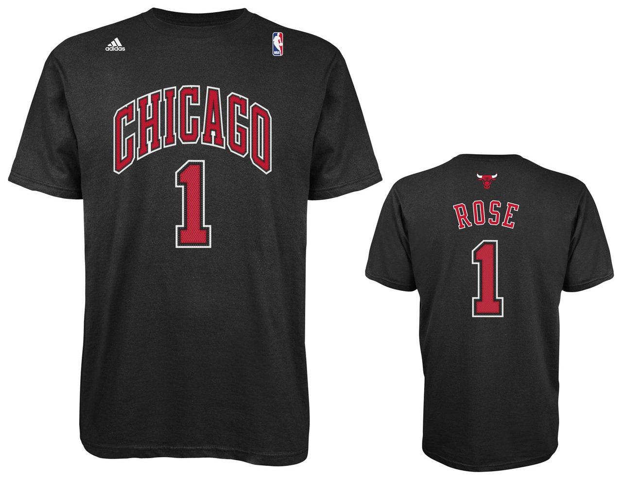 Adidas NBA Chicago Bulls de Hombre U Serie Road # 1 Derrick Rose N & N tee, Grande, Negro: Amazon.es: Deportes y aire libre