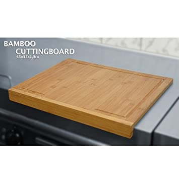 Bbtradesales Cutting Board Bamboo With Counter Edge Amazon Co Uk