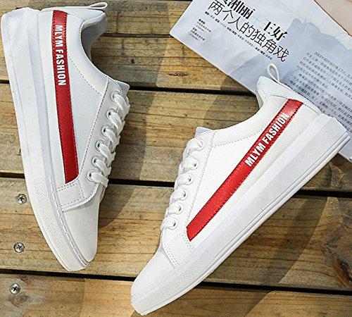 Satuki Canvas Schoenen Voor Heren, Fashion Sneakers, Casual Klassieke Veterschoenen, Lichtgewicht Sportschoenen Beige-rood