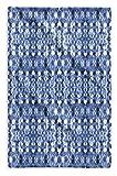 KAVKA DESIGNS Shibori Mirror Hand Towel, (Blue) - SALTWATER Collection, Size: 15.5x24.5 - (BBAAVC6502SPHT)