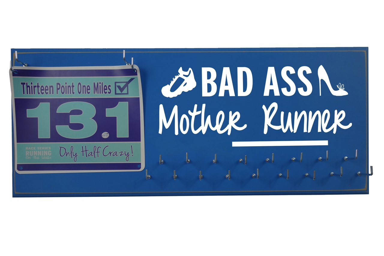Running on the wall-gifts for runners-marathon Medal display-race Day Bibsホルダー&メダルラックfor Running – Awardsハンガー –