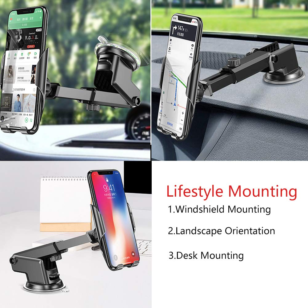 Foldable and scalable,Windshield Car Phone Mount Holder for iPhone X//8//7//7Plus//6s//6Plus Hands-Free Cell Phone Holder for Car Flypc Car Cell Phone Holder Samsung Galaxy//S8//S7//S6//Note 5 /& Other SMA