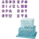 Chinatera 40Pcs Alphabet Nombre Lettre Fondant Kit de décoration pour gâteau sucre Cutter moule