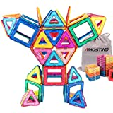 SOLMOD Magnetic Blocks-Magnetic Tiles Building Blocks- Magnetic Stacking Toys 64 Pieces for Kids