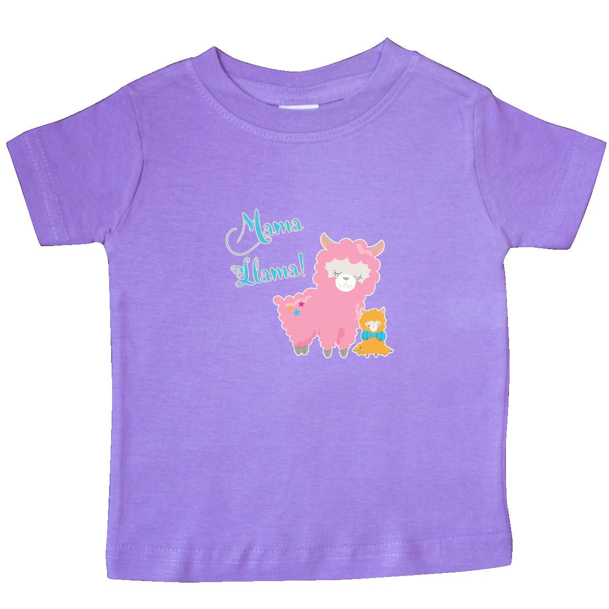 inktastic Mama Llama with Pink Mommy Llama /& Yellow Baby Baby T-Shirt