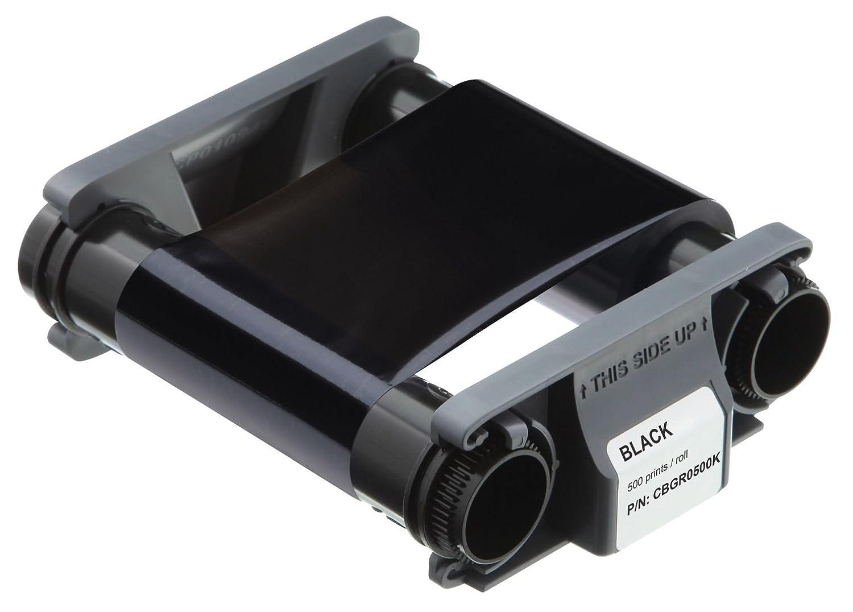 Evolis CBGR0500K Badgy100 & 200 - Cinta negra compatible con ...