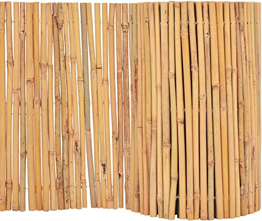 vidaXL - Valla de bambú para jardín, 500 x 30 cm, protección Visual, protección contra el Viento, Esterilla de bambú, Natural, tamaño único: Amazon.es: Jardín
