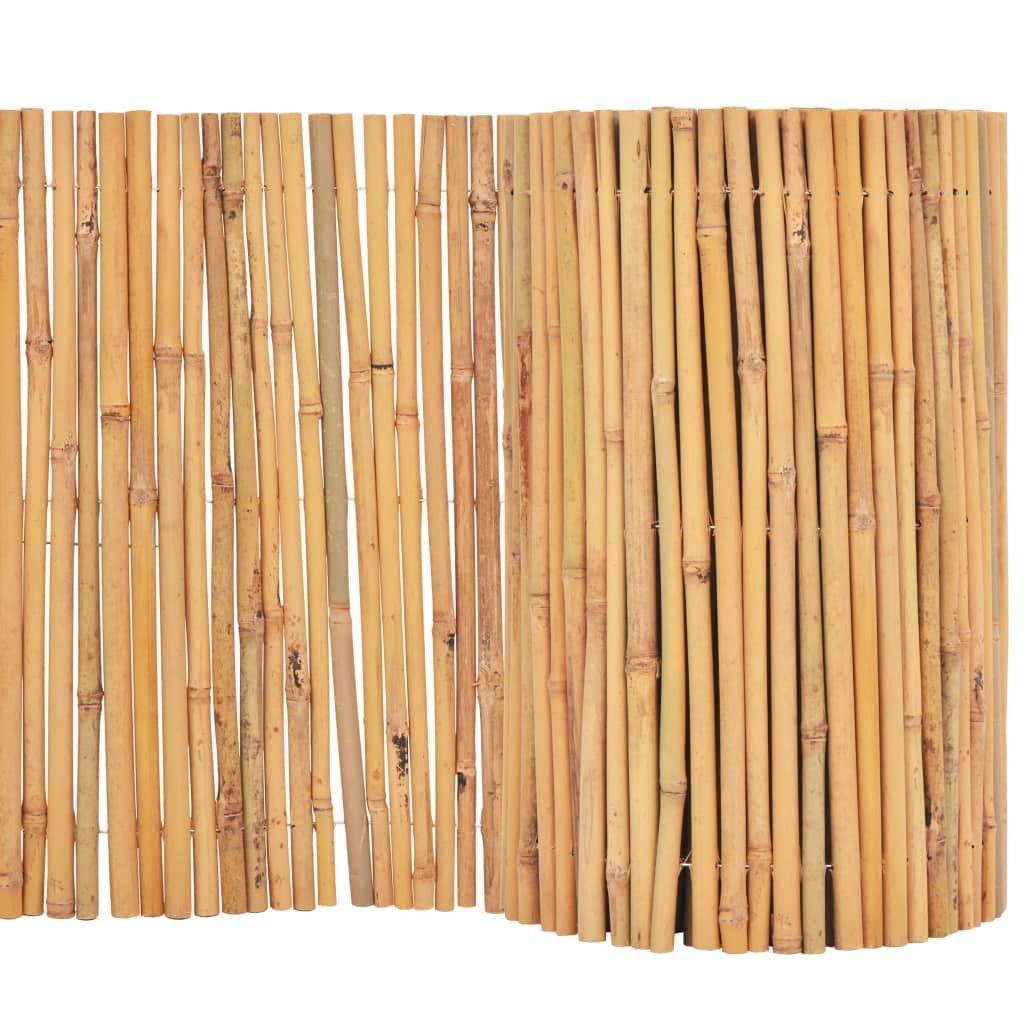vidaXL Ca/ñizo Bamb/ú Jard/ín Rollo 250x195 cm Cerca Vallado Pantalla Privacidad