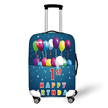 Amazon Com Travel Luggage Cover Suitcase Protector 1st Birthday