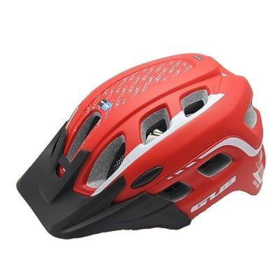 ZHIHUI Léger Cycle Casque Montagne Vélo Casque 19 Vents Adulte Réglable Confortable Casque de Sécurité pour Sport En Plein Air Vélo , red