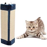cyclamen9 Hanging Cat Scratcher Natural Sisal Cat Scratching Mat, Cat Pet Wall Corner Scratching Scratch Board Mat with Scratcher Sisal Rope, 12inch (Blue)