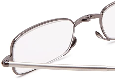 Amazon.com: Foster Grant Men's Gideon Rectangular Reading Glasses ...