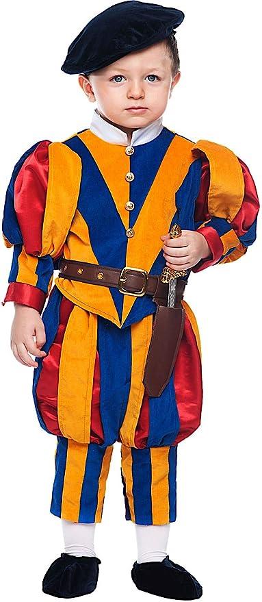 Costume di Carnevale da Guardia Svizzera Neonato Vestito per Neonato  Bambino 0-3 Anni Travestimento a5ff1bd2431b