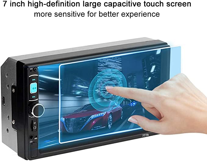 Qinlorgo 7Touch Screen Car Bluetooth GPS FM Radio MP5 Player per Android//Apple Phone Interconnection