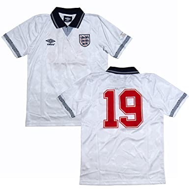 4c332f45a47 England Retro Italia 90 Home Football Shirt - size S: Amazon.co.uk ...