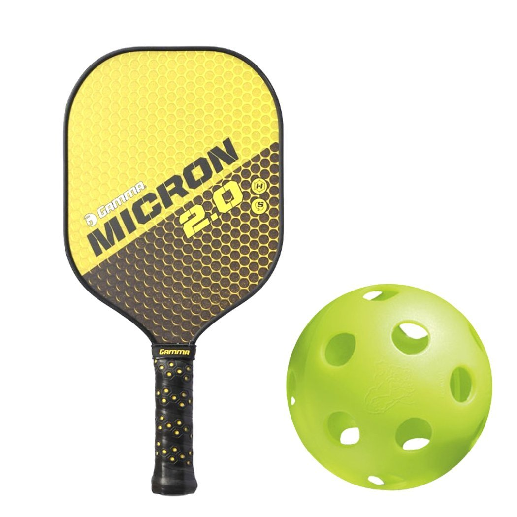 Amazon.com : Gamma Atomic 2.0 Black/Burnt Orange Composite Nomex Honeycomb Pickleball Paddle Kit Bundled with (Set of 4) Jugs Indoor Pickleball Balls (Best ...
