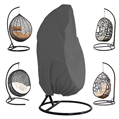 STARTWO Hanging Chair Cover for or Single Swinging Egg Chair/Pod Chair/Swingasan -Outdoor Patio Hanging Chair Cover Heavy Duty Water Resistant: Kitchen & Dining
