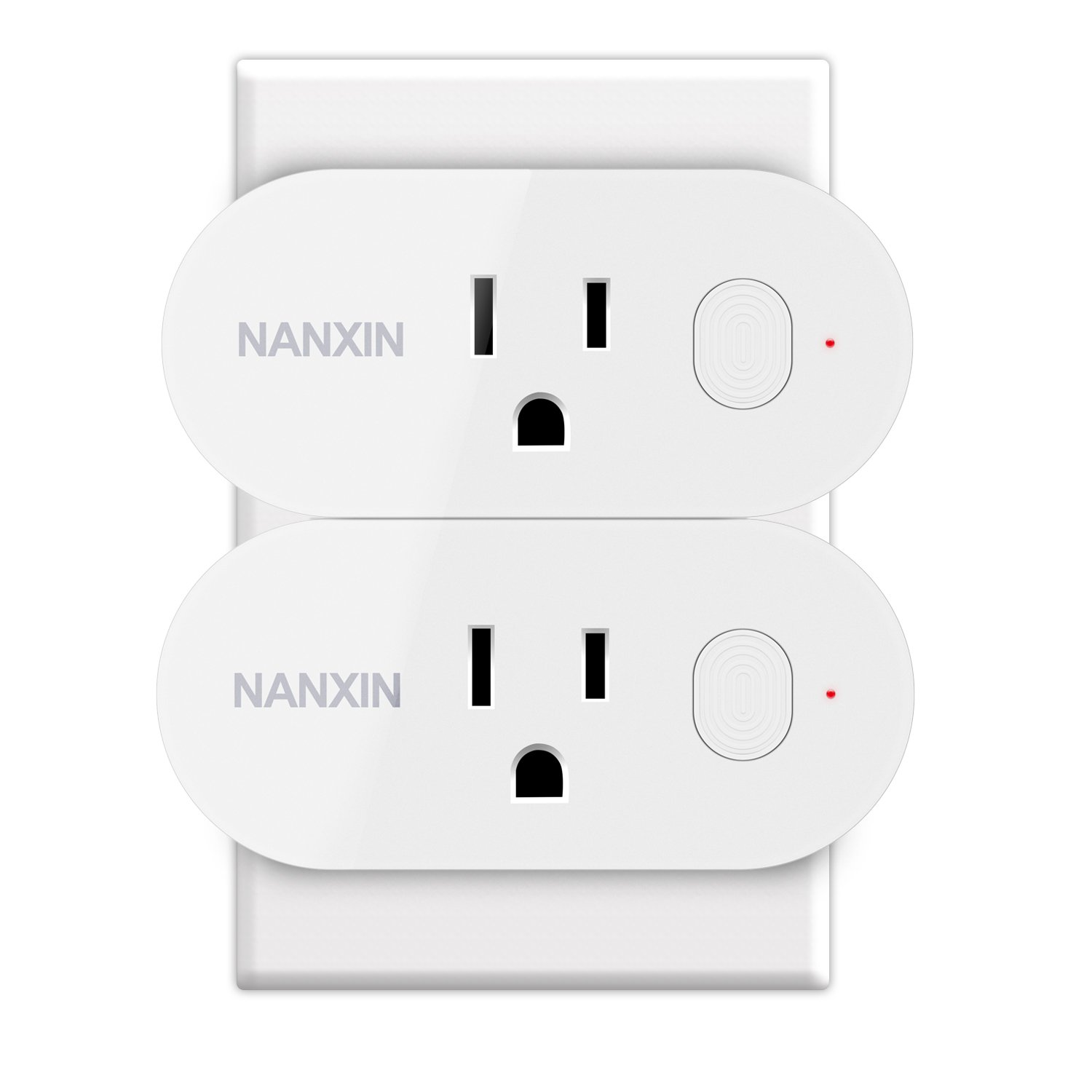 Alexa Smart Wifi Plug - NANXIN Smart Plug Wifi Socket Outlet, Compatible with Alexa and Google Home, 16A for Larger Appliances, Remote Control From Anywhere - 2 Pack