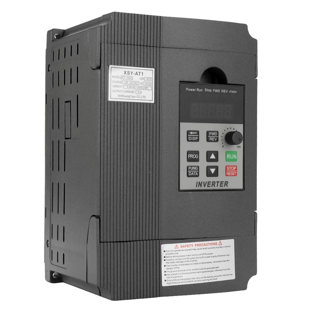 Gecheer AT1-2200S Variable Frequency Converter Drive Professional Variable Frequency Drive Speed Controller 2.2KW 12A 220V AC Motor Drive Single-Phase In Three-Phase Out Variable Inverter