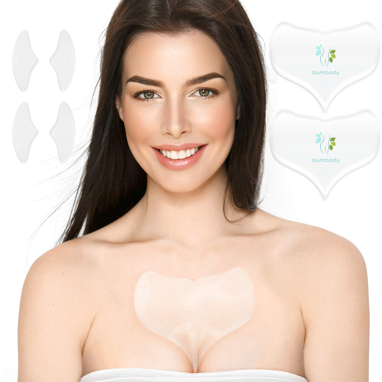 6a2d2970de1b Amazon.com   Decollete Pad for Chest Wrinkles - Set of 2 Silicone Chest  Pads for Decollete and Cleavage Wrinkles Prevention - Reusable Overnight  Anti ...