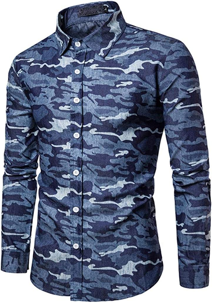 Camisas Casual Hombre Manga Larga, Covermason Camisa Ajustada ...