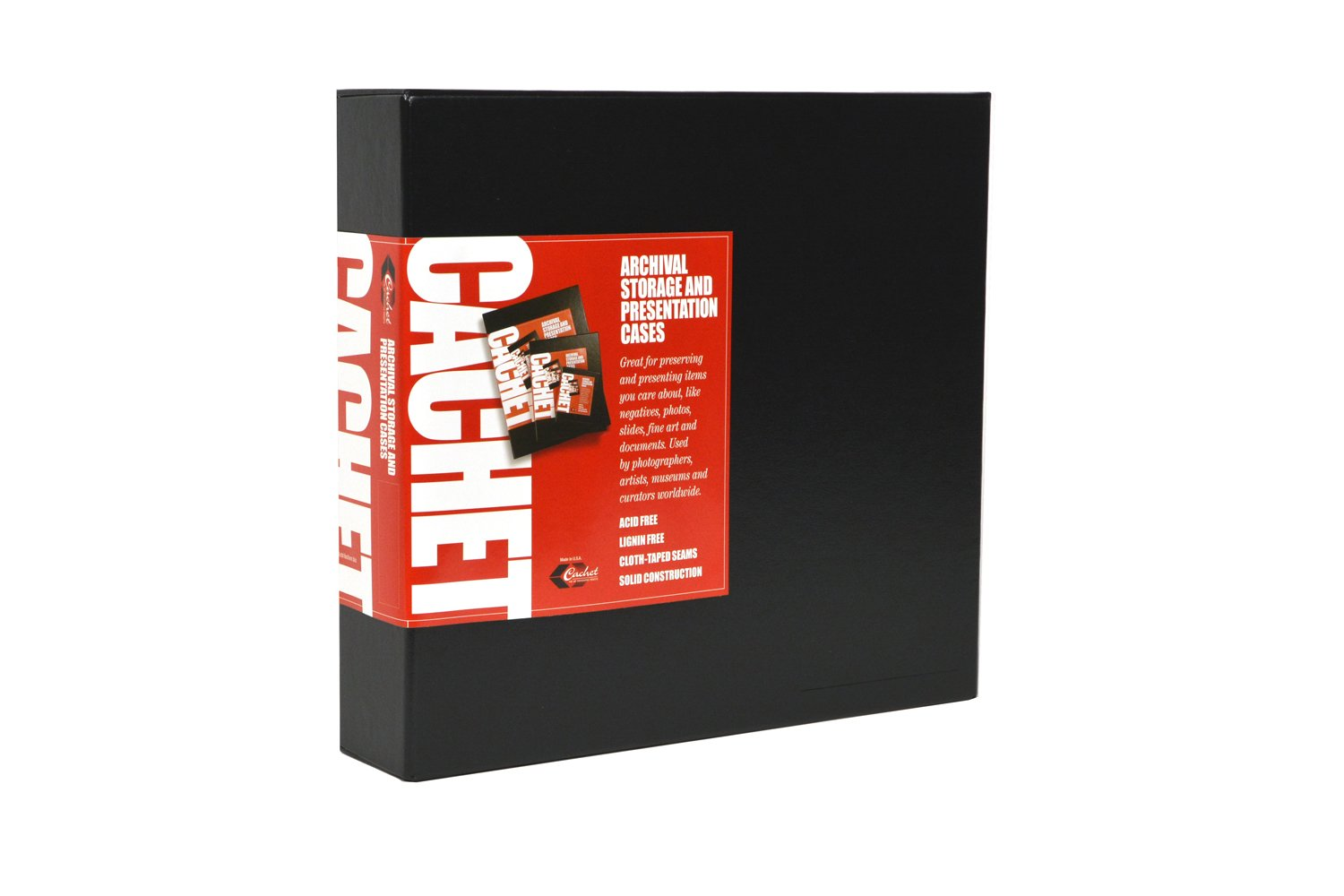 Cachet Archival Presentation Box, 11x12x3 D-Ring by Cachet