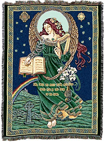 - Pure Country Weavers | Irish Celtic Blessings Woven Tapestry Throw Blanket with Fringe Cotton USA 72x54