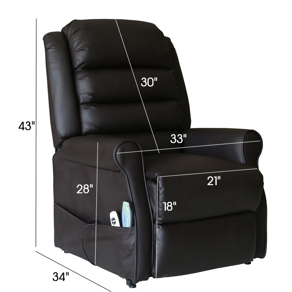Amazon.com: Recliner Power Lift Chair with Massage Heat with Control ...