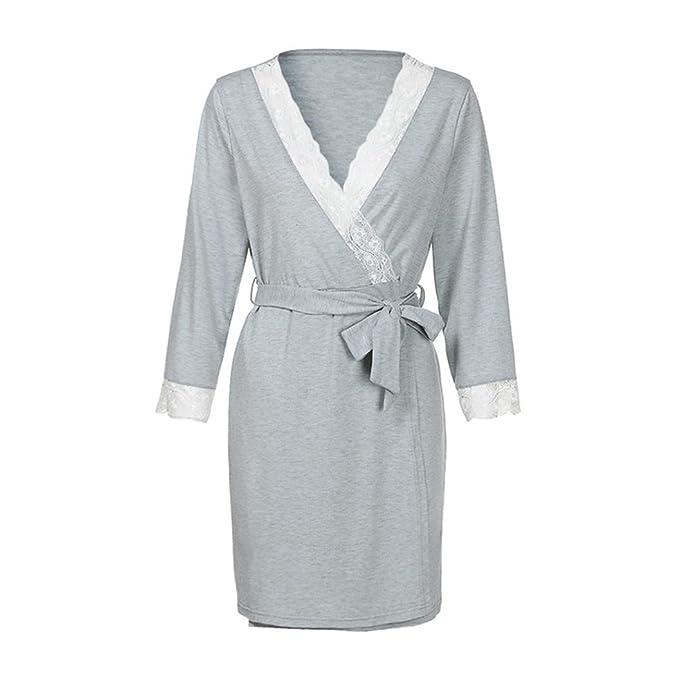Amphia Embaraz Lactancia Pijama, Womens Lace Pregnants Casual Nursing Baby para Maternidad Pijamas Night-Rob Dress: Amazon.es: Ropa y accesorios