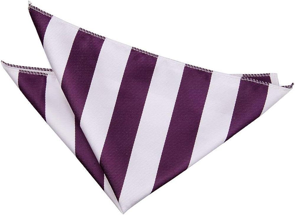DQT Men Stripe Patterned Formal Causal Business Office Work Handkerchief Pocket Square Hanky