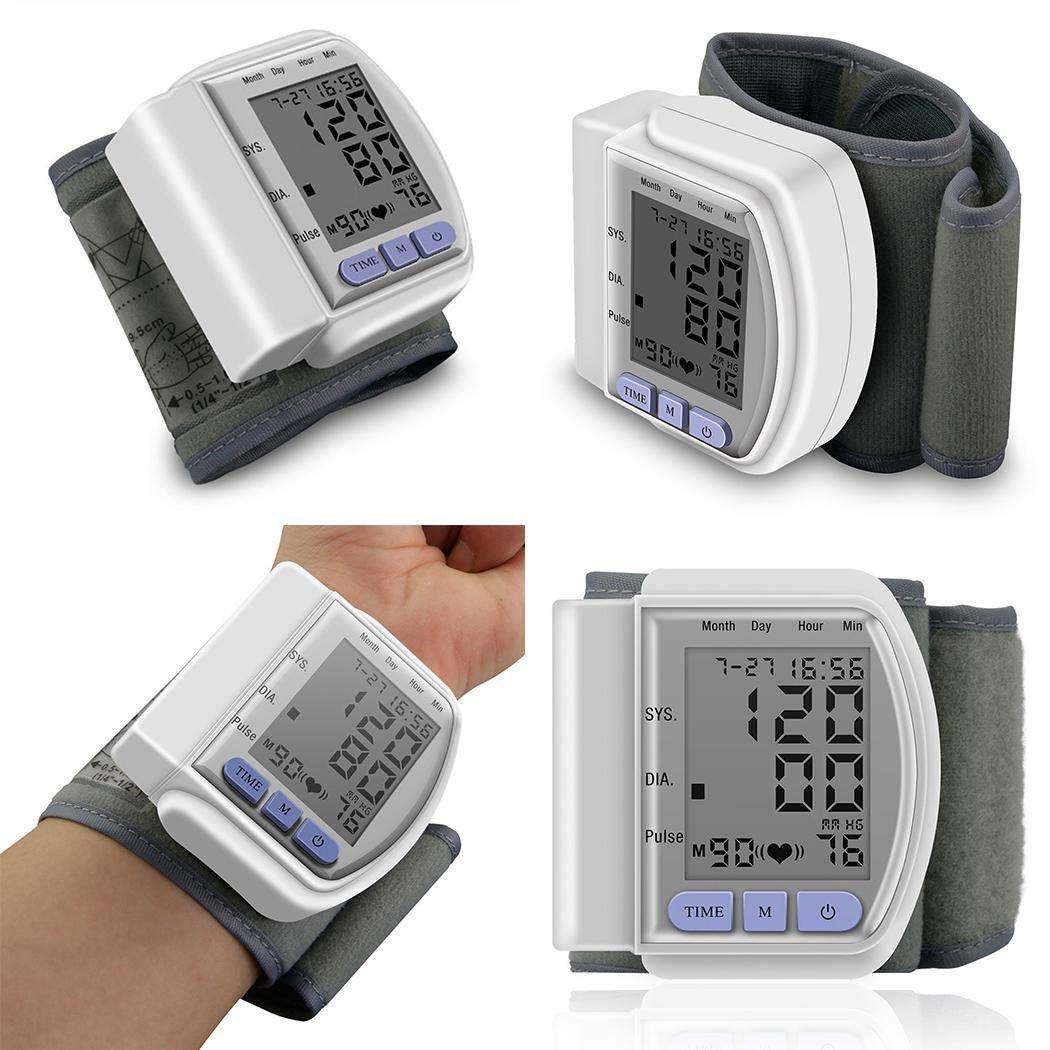 dozenla Durable Automatic LCD Digital Display Wrist Blood Pressure Monitor with LED Screen by dozenla