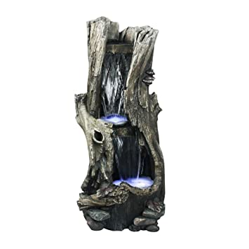 Alpine WIN258 Rain Forest Waterfall Fountain With LED Lights, 41 Inch