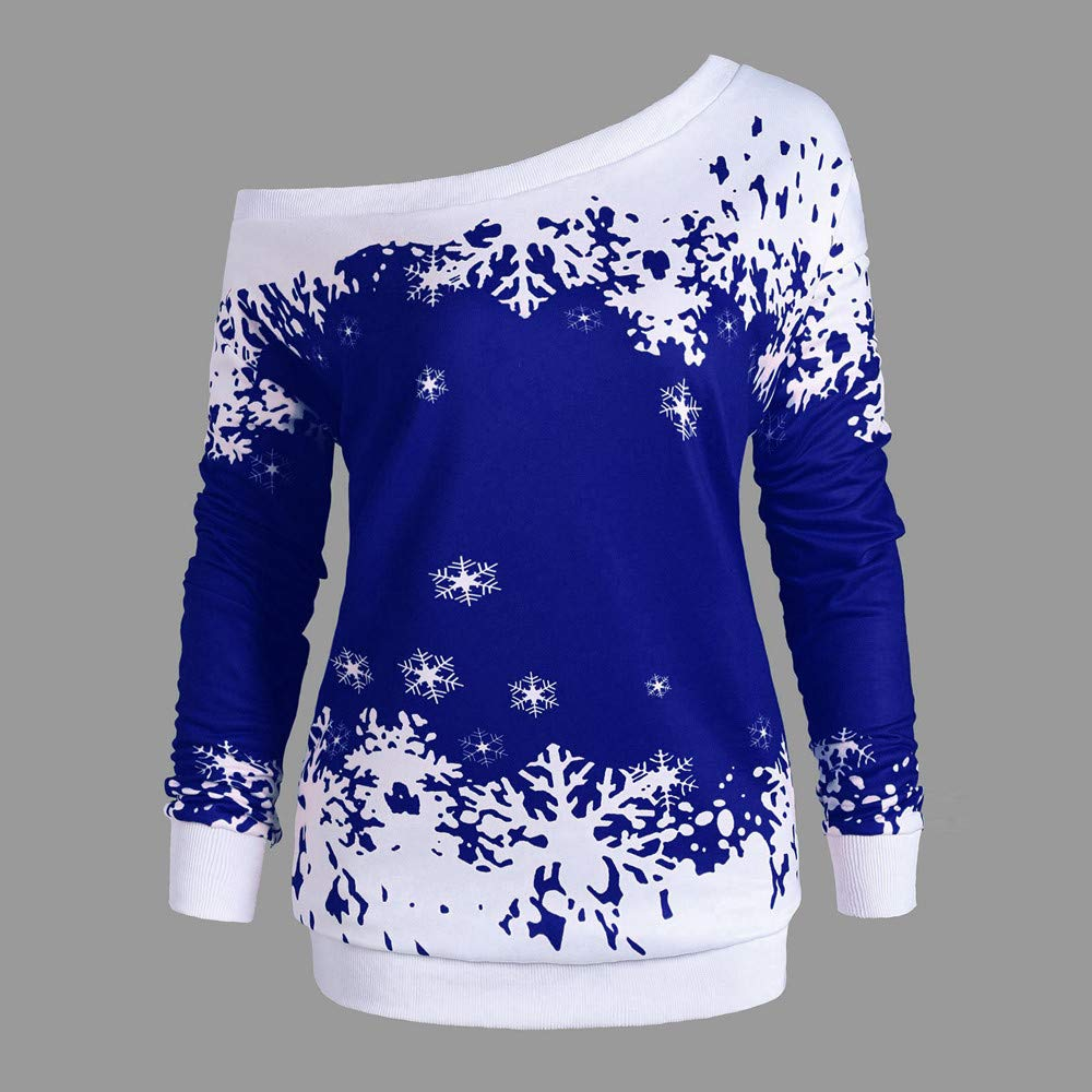 ... Pullover Blouse Slash Neck Shirt Winter Multicolored Outwear Fashion Costume Loose Clubwear Casual Outfits(Blue,UK:16): Amazon.co.uk: Kitchen & Home