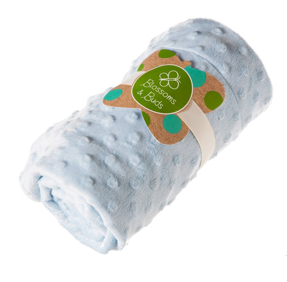 Blue Everyday Minky Dot Baby Blanket by Blossoms & Buds