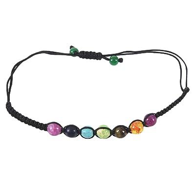 TOOGOO 7 Cuentas de Equilibrio de curacion Chakra Pulsera Pulsera de energia de Yoga Vida Amantes del Arco Iris Joya Informal