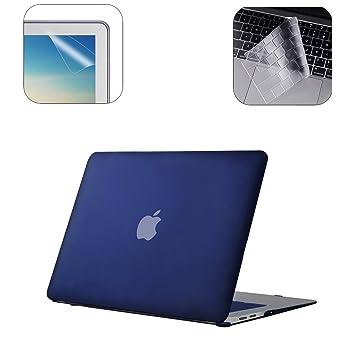 i-Buy Funda Dura para MacBook Air 13 Pulgadas(Model A1932 2018.11) con Retina Display y Touch ID + TPU Skins para Teclado + Filtros de Pantalla, Azul ...