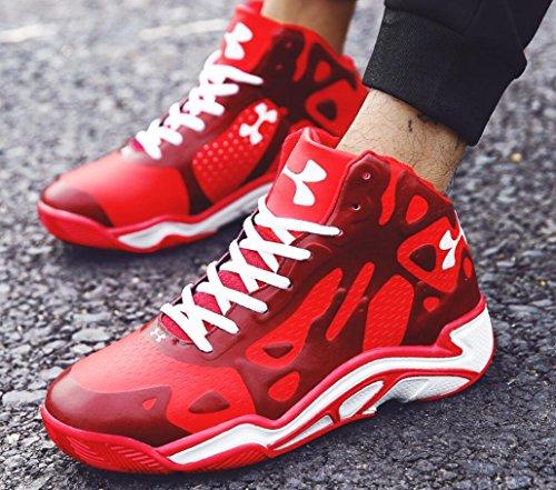 2018 Top Wear Sneakers Seasons Zapatillas de Four New la Size de Lovers Amortiguación Hombre Deportivas Hombres EU Zapatillas Cómodas Clase Baloncesto Rojo Antideslizante Zapatillas High Ball wqPCxEI