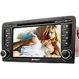 PUMPKIN 7 Zoll 2 Din Autoradio DVD Player Moniceiver mit GPS Navigation für Audi A3 2003 - 2011 unterstützt Bluetooth Lenkradfernbedienung Rückfahrkamera