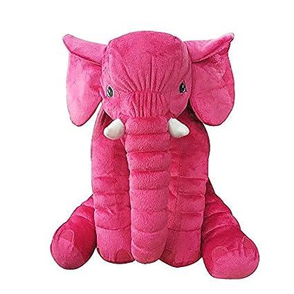sdtdia Almohada de Elefante Animales de Peluche Felpa Almohada Beb/é durmiendo Peluches Blandos Beige, 60CM