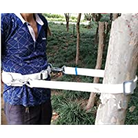 HUAWELL Safety Belt with Adjustable Lanyard, Tree Climbing Construction Harness Protective Gear, Personal Protection Fall Arrest Kit