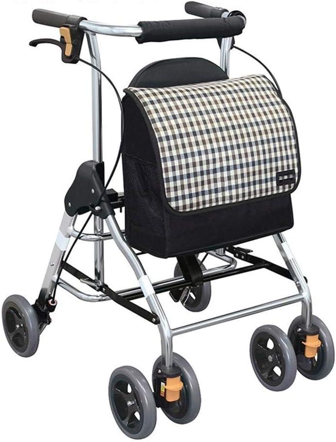 4347555031 Walker Old Man Shopping Trolley Ahorrador De Mano De Obra Se Puede Sentar Y Empujar Plegable Silla De Ruedas Ligera Accesible Walker For Niños De Edad Avanzada