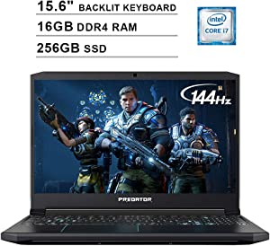 Acer 2020 Predator Helios 300 15.6 Inch FHD Gaming Laptop (9th Gen Intel 6-Core i7-9750H up to 4.5 GHz, 16GB RAM, 256GB PCIe SSD, Backlit Keyboard, NVIDIA GeForce GTX 1660 Ti, WiFi, Bluetooth, Win 10)